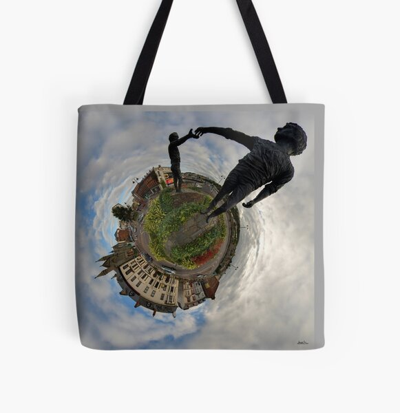 Hands Across the Divide, Derry All Over Print Tote Bag