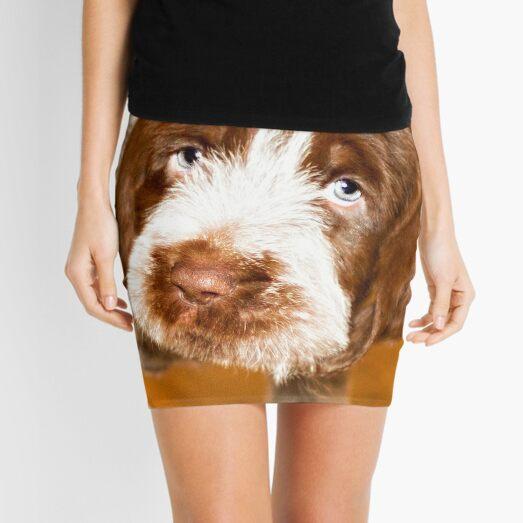 Puppy dog eyes Spinone Mini Skirt