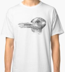 Rabbit, Duck, illusion, Is it a Rabbit or is it a Duck? Optical illusion, visual illusion Classic T-Shirt