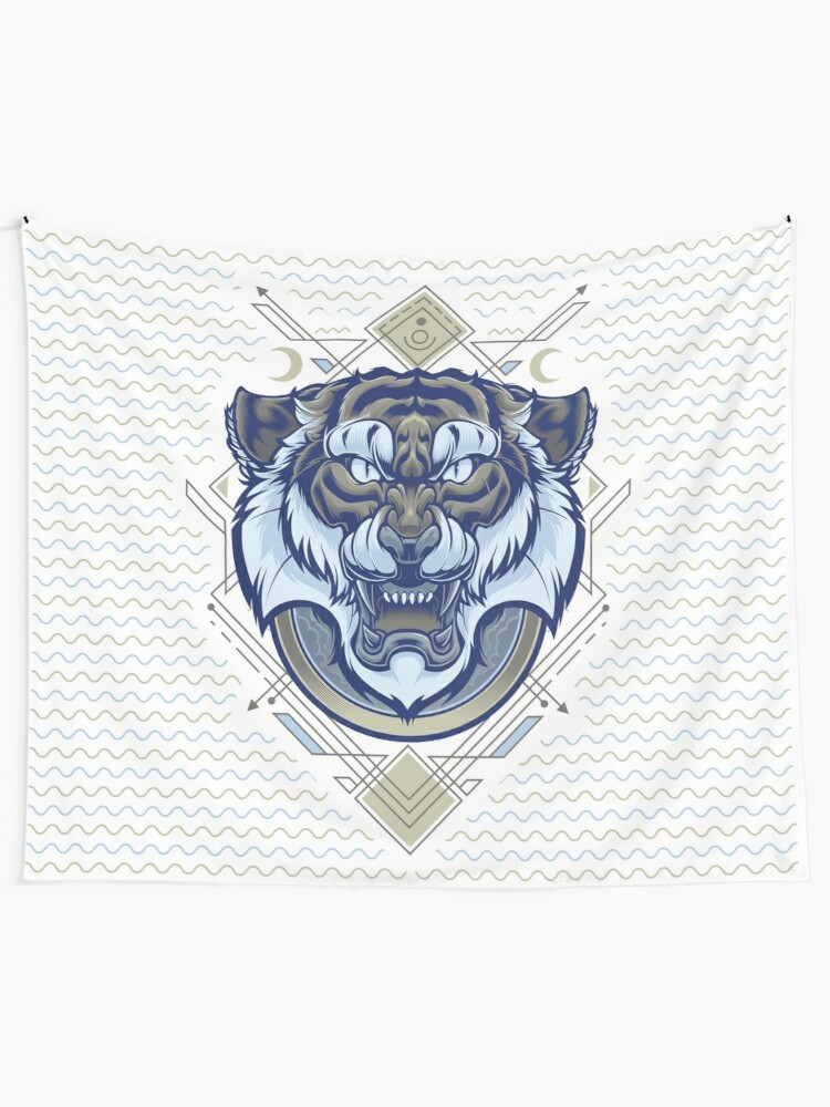 Alternate view of Tiger Geometric Tapestry