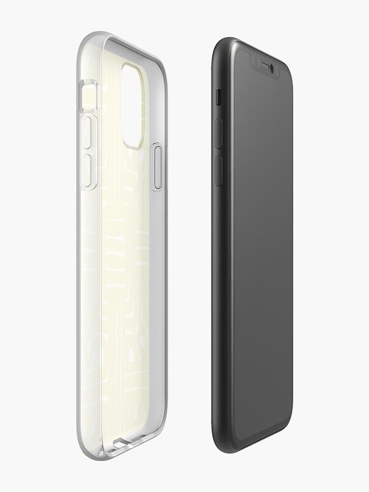 Coque iPhone «Conception de mandala jaune», par StylishTayla