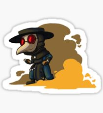 Pegatina Chibi Smoke Plague doctor