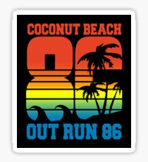 OUT RUN 86 - COCONUT BEACH - STAGE 1 Sticker