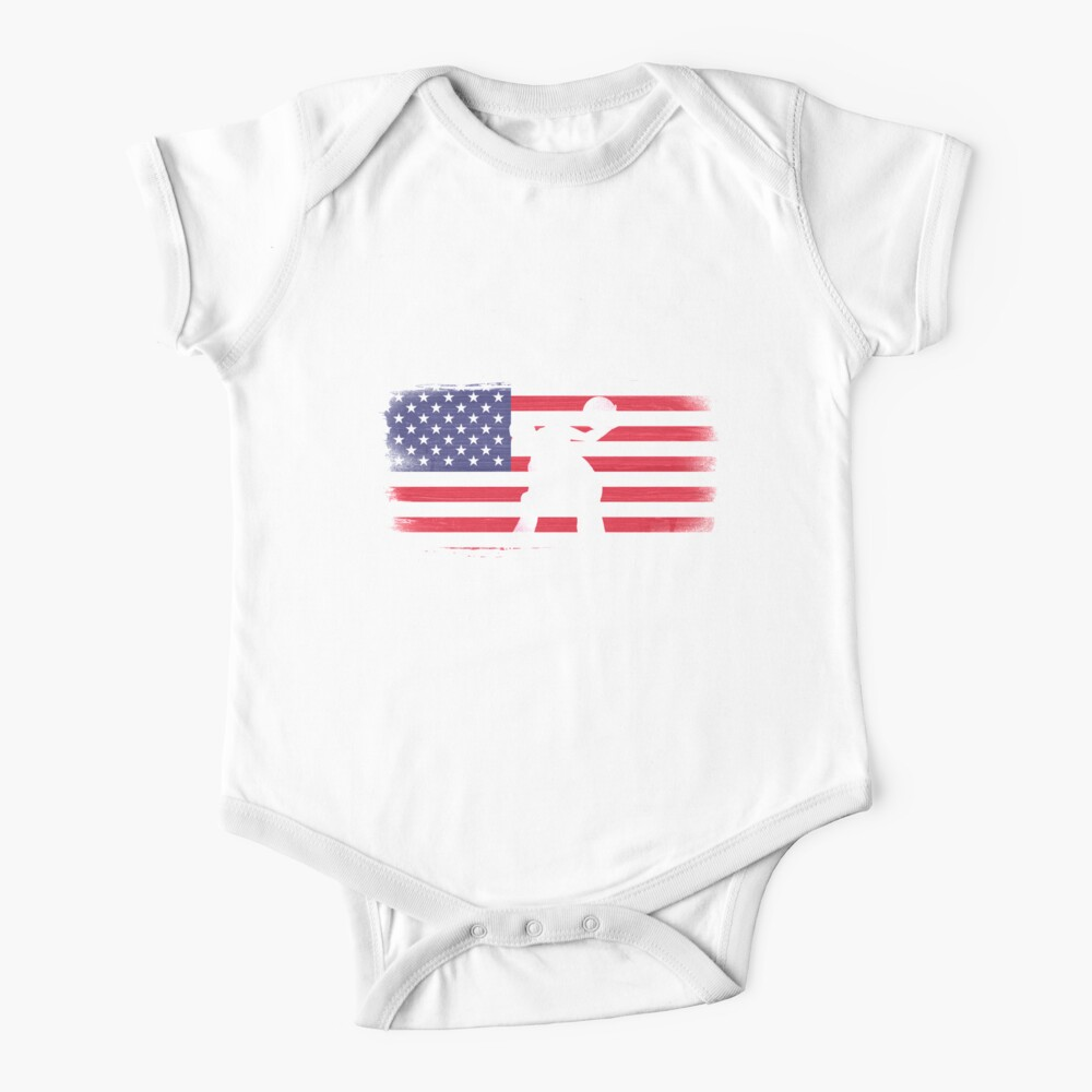 American Flag Basketball Player Baby One-Piece