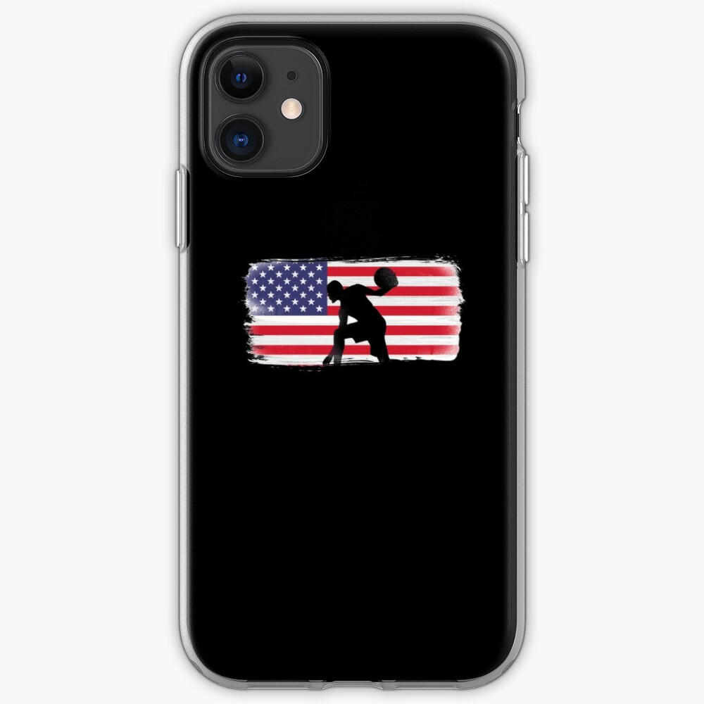American Flag Basketball Player iPhone Case & Cover