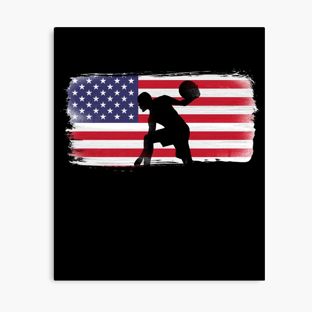 American Flag Basketball Player Canvas Print