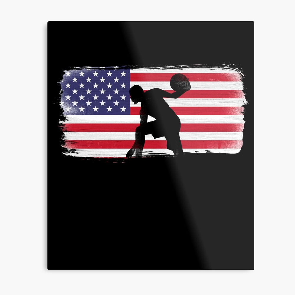 American Flag Basketball Player Metal Print