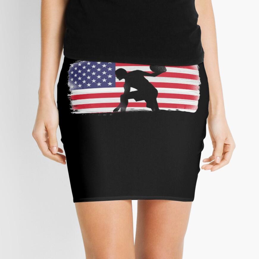 American Flag Basketball Player Mini Skirt