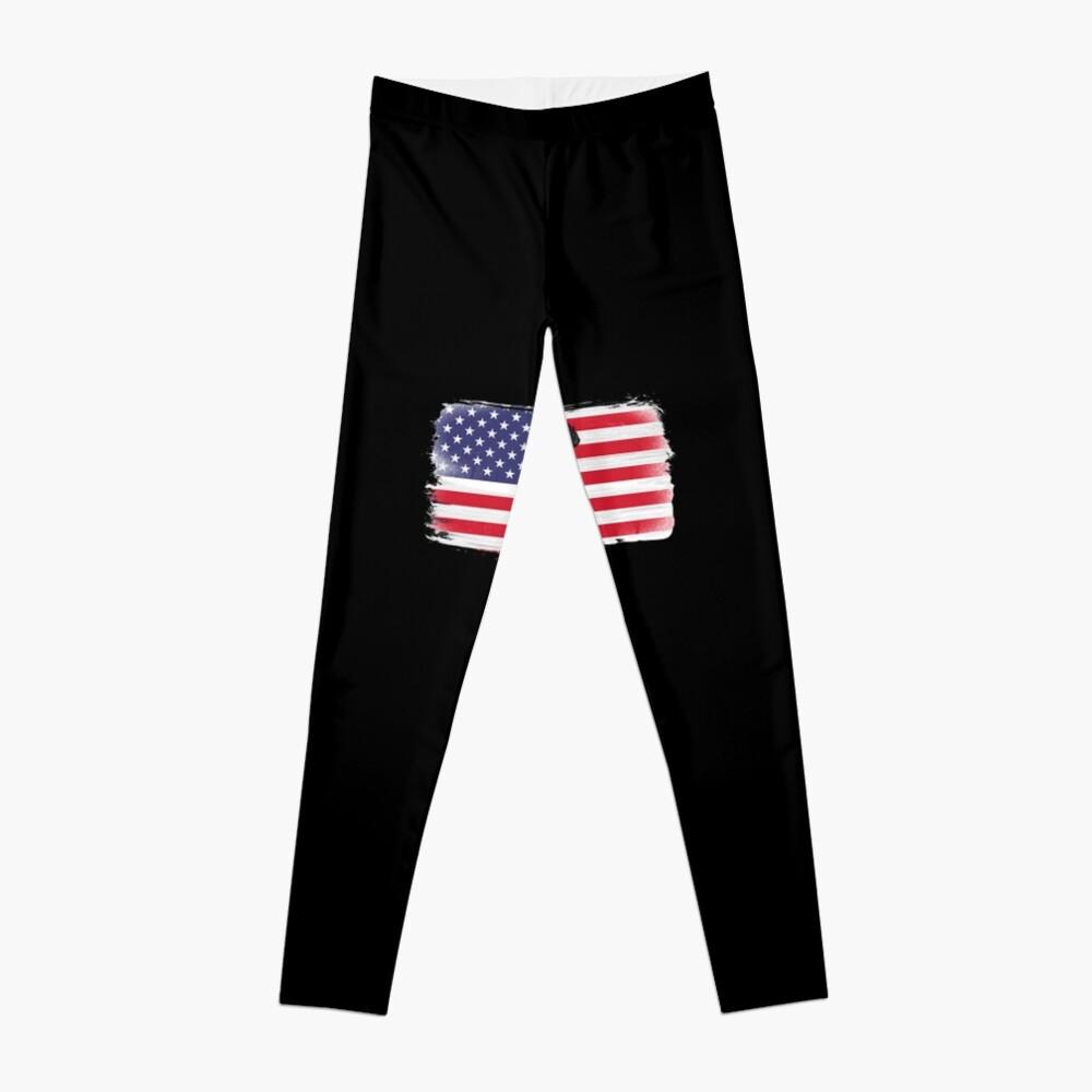 American Flag Basketball Player Leggings