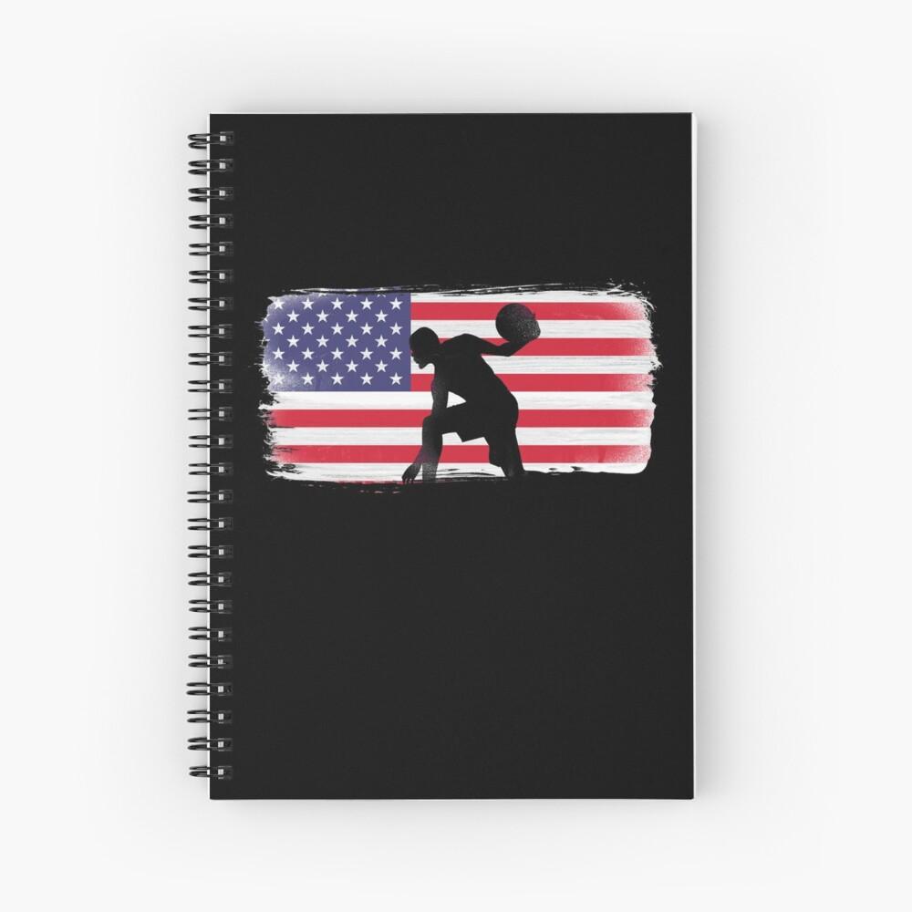 American Flag Basketball Player Spiral Notebook