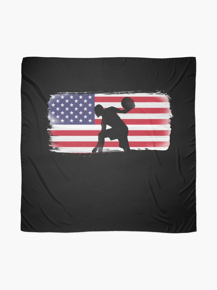 Alternate view of American Flag Basketball Player Scarf