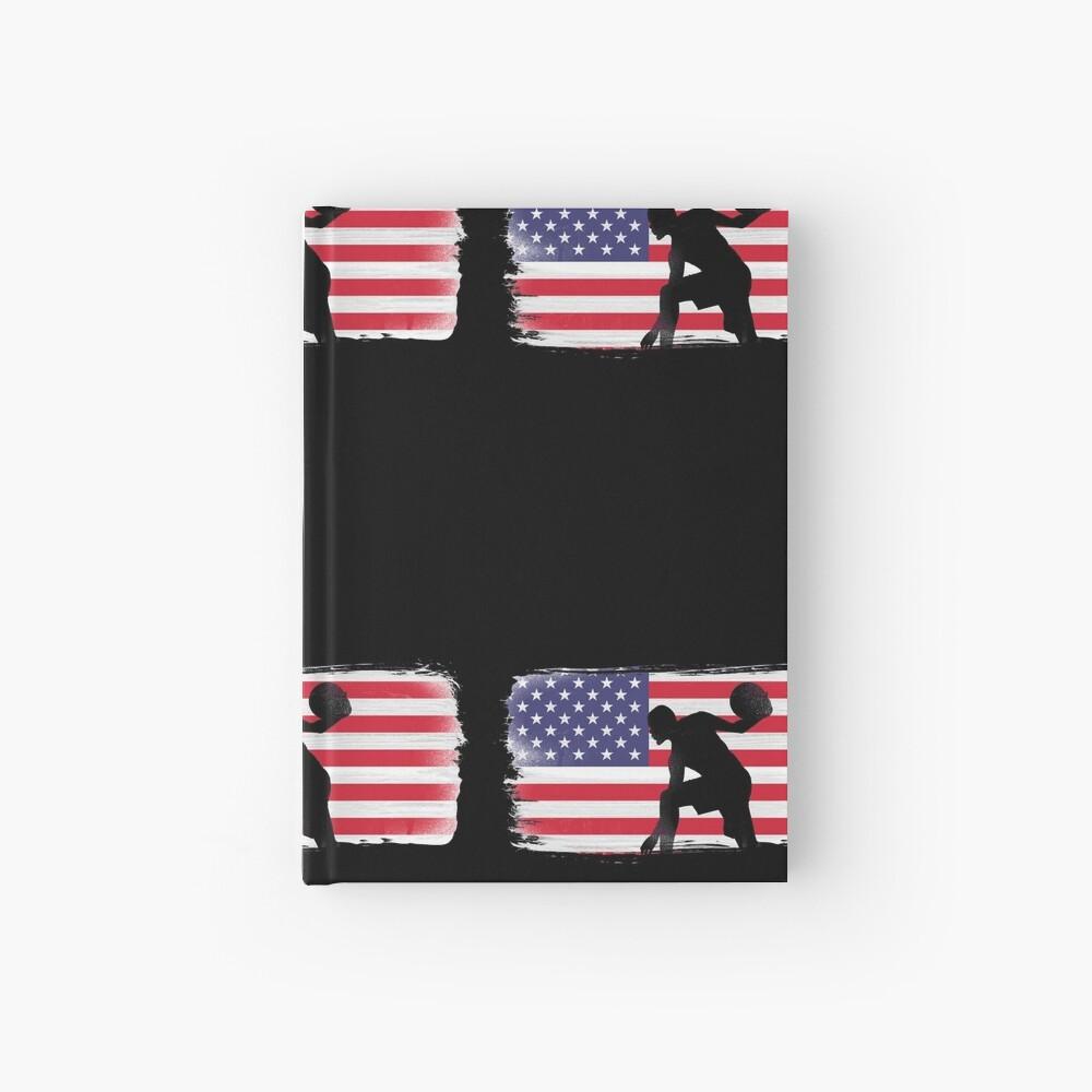 American Flag Basketball Player Hardcover Journal