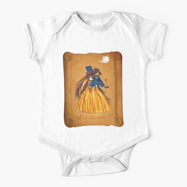 Who is the Mad Hatter ? Beauty and the Beast Short Sleeve Baby One-Piece