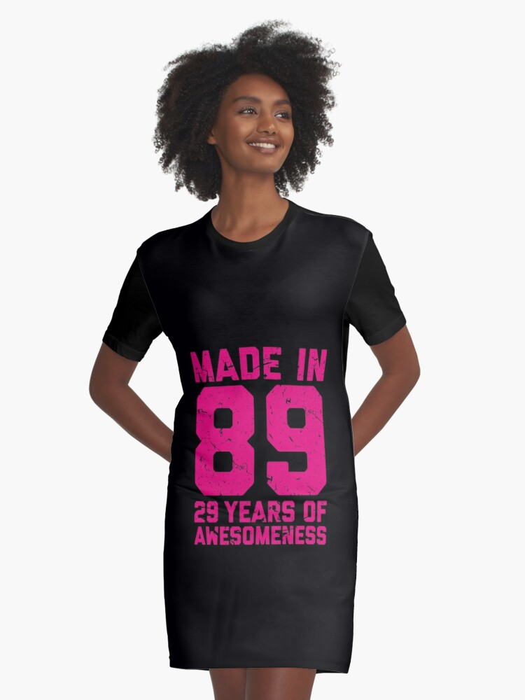 29th Birthday Gift Adult Age 29 Year Old Women Womens Graphic T Shirt Dress Front