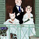 Manet's The Balcony, With Cats! by Ryan Conners