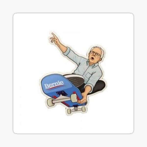 Skateboard Bernie Sanders Sticker