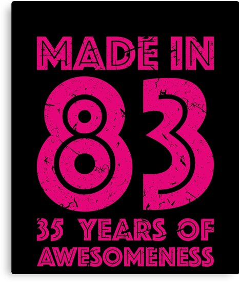 35th Birthday Gift Adult Age 35 Year Old Women Womens Canvas Prints
