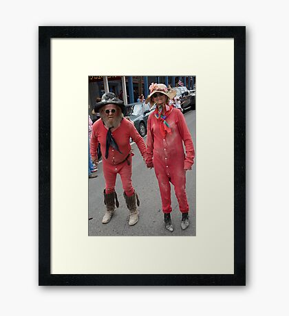 HEY,,,, Why So Serious? Framed Print