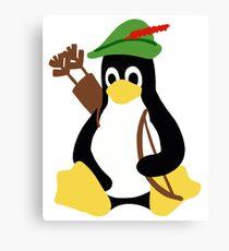 Robin Tux - Arch Linux Penguin Canvas Print