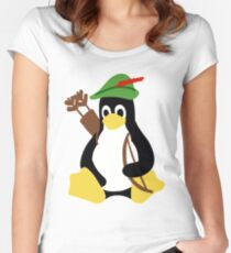 Robin Tux - Arch Linux Penguin Women's Fitted Scoop T-Shirt