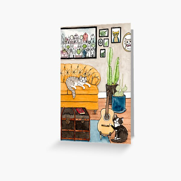 Joaquin and Wally in the Living Room Greeting Card