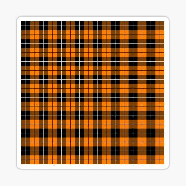 Tartan - Orange Sticker