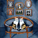 Calico Cats in the Blue Room by Ryan Conners