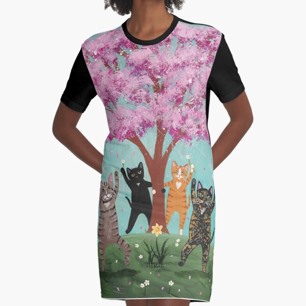Celebration of Spring Graphic T-Shirt Dress