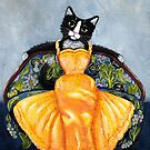 Feline in a Yellow Dress by Ryan Conners