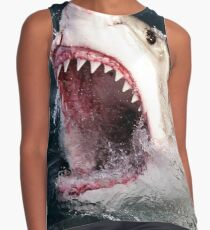 Great White Shark 3D Shark Bite Sleeveless Top