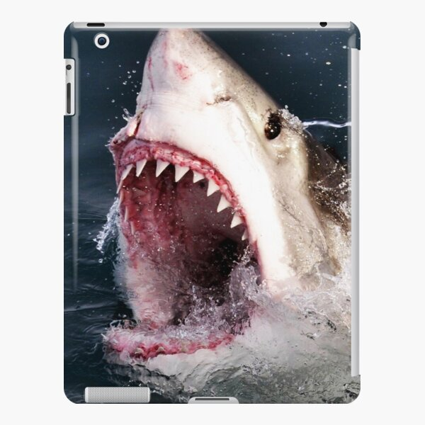 Great White Shark 3D Shark Bite iPad Snap Case