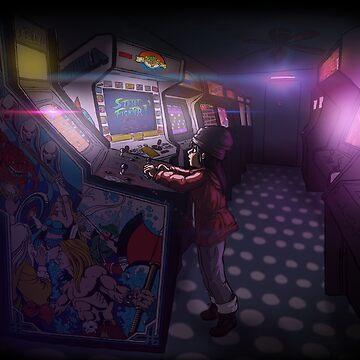 «Arcade girl» par le-grom