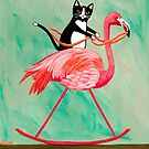 Cat on a Rocking Flamingo by Ryan Conners