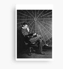 Tesla Classic Design Canvas Print