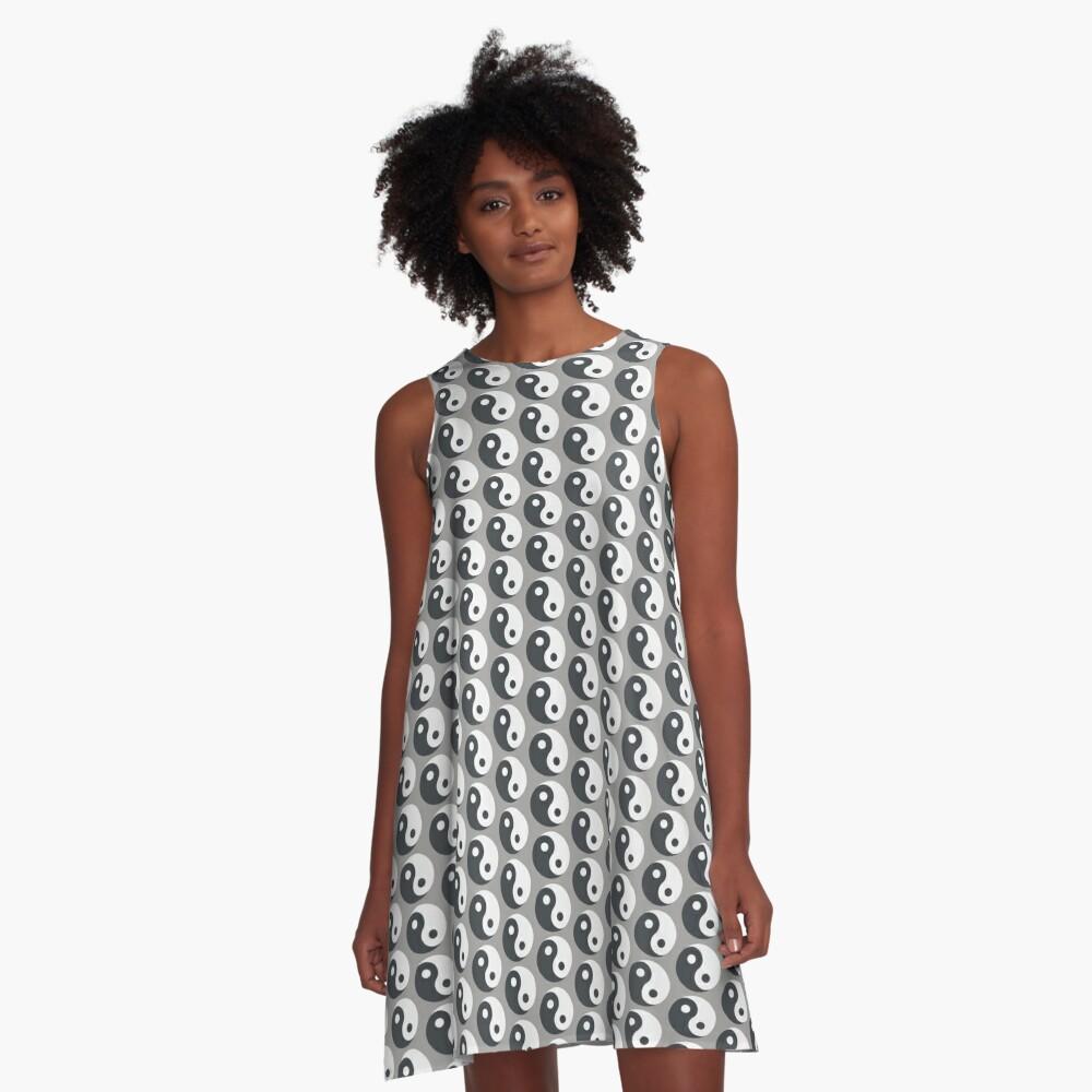 Yin Yang A-Line Dress Front