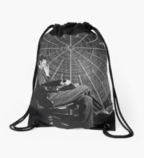 Tesla Classic Design Drawstring Bag