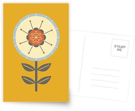 Retro Scandinavian Flower Design by mustarddonuts