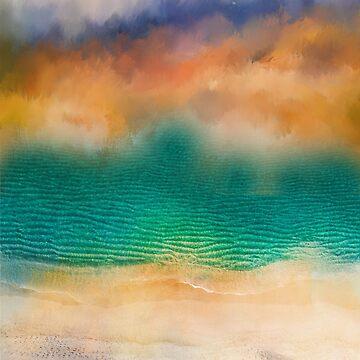 Colorful coastal art by TAZUZU
