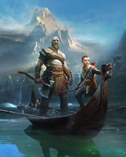 Gott des Krieges - Kratos und Atreus von Kinobix