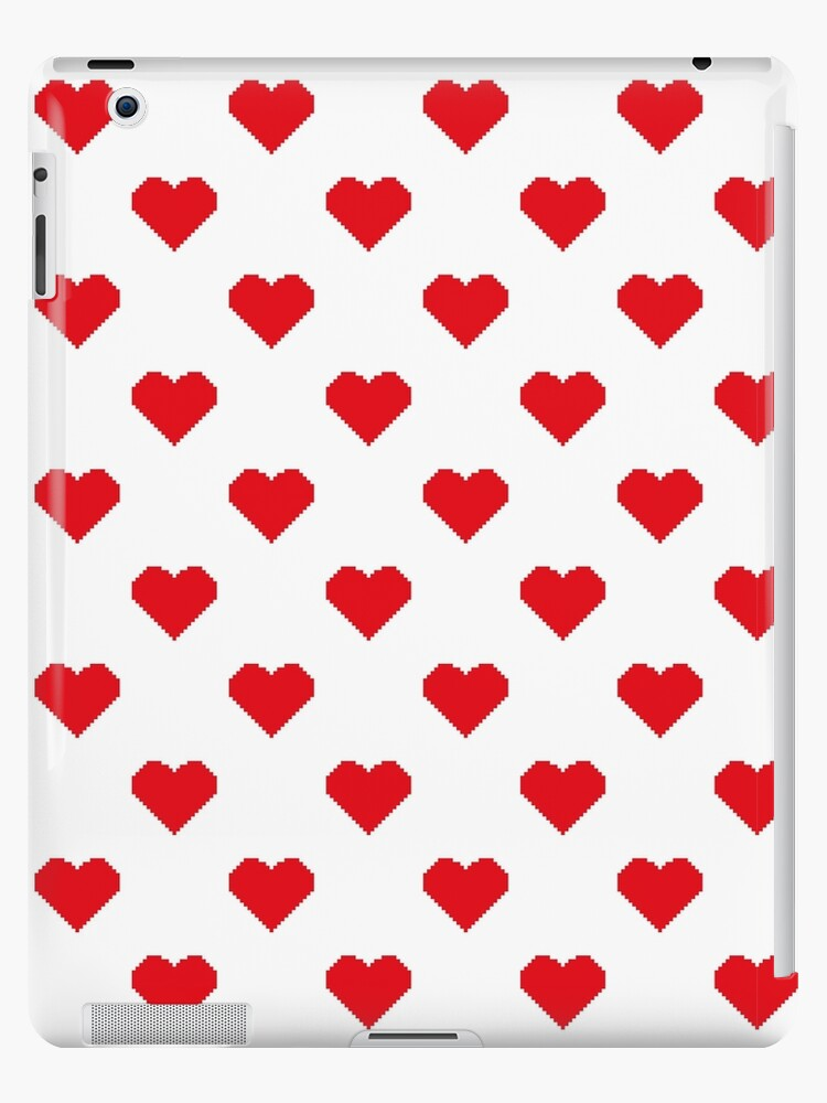 f1ae342f04 8-Bit Retro Pixel Heart Pattern Heart Outline Pattern