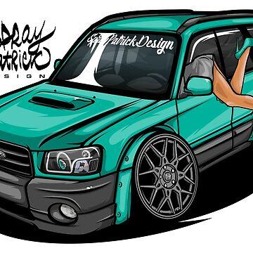 Bagged Subaru Forester CuteEdit 2003 by SprayPatrick