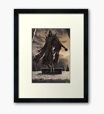 Skyrim Dragon Priest Fan Art Poster Framed Print