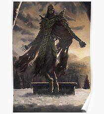 Skyrim Dragon Priest Fan Art Poster Poster