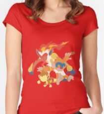 Chimchar Evolution Women's Fitted Scoop T-Shirt