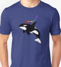 Rainbow orca Unisex T-Shirt