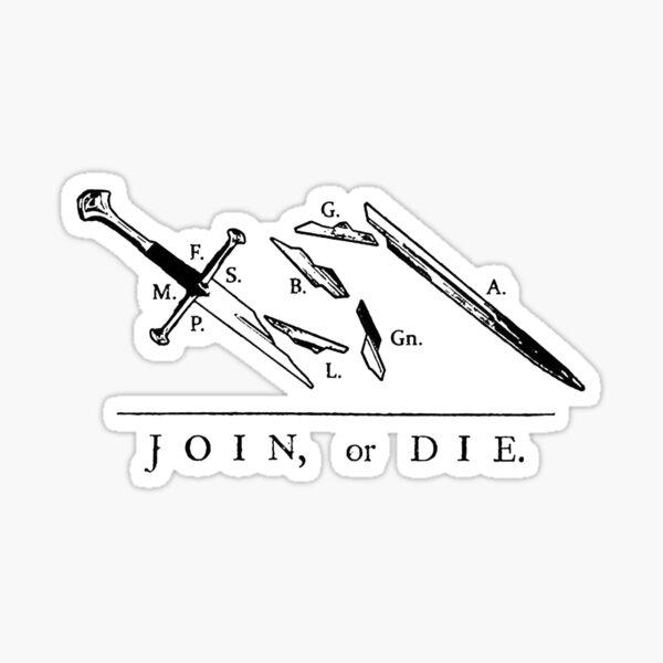 Rejoindre ou mourir // Communauté de l'Anneau Sticker