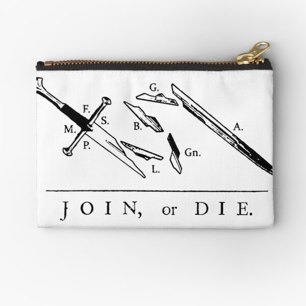 Join or Die // Fellowship of the Ring Zipper Pouch