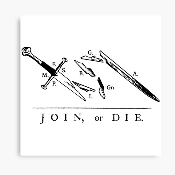Join or Die // Fellowship of the Ring Canvas Print