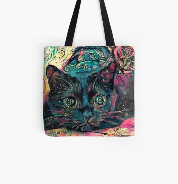 Vincent's Cat All Over Print Tote Bag