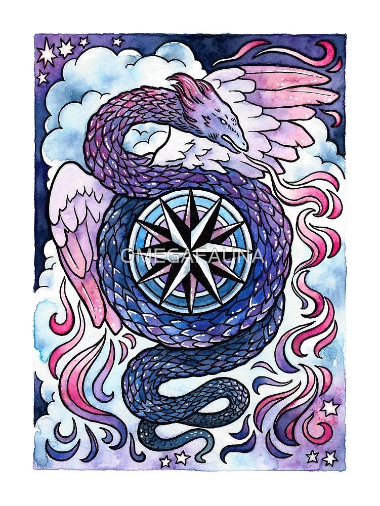 Zephyr Dragon at Dusk by OMEGAFAUNA